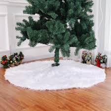 Creative <b>White Plush</b> Christmas Tree Skirts Fur Carpet Xmas ...