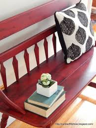 number fifty three red glazed painted vintage bench brilliant 14 red furniture ideas furniture