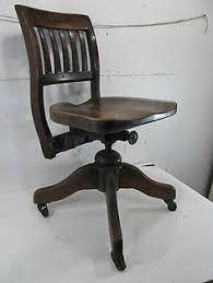 vintage adjustable wooden office chair antique antique deco wooden chair swivel