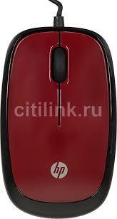 Купить <b>Мышь HP X1200</b>, проводная, USB, красный в интернет ...