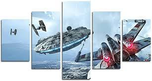 AtfArt 5 Piece Millennium Falcon X Wings Canvas Art ... - Amazon.com