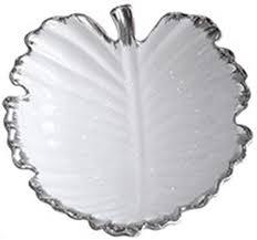 NJIUHB Fruit Tray, European-<b>style Creative Leaf</b>-<b>shaped</b> Ceramic ...