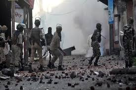 Image result for kashmir pellet gun stone pelter image