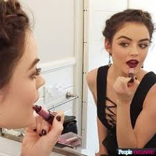 want lucy hale 39 s pretty hair and makeup look from the people 39 s choice awards through for all the exclusive dels