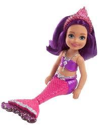 <b>Кукла Barbie</b> Челси <b>Русалка</b> в короне с разноцветным плавником ...