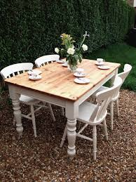 Shabby Chic Dining Room Furniture For Signature Design By Ashley Gerlane 7 Piece Solid Pine Dining Table