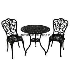 Outdoor Setting Cast <b>Bistro</b> Table Chair Vintage Patio <b>3</b>-<b>Piece Bistro</b> ...