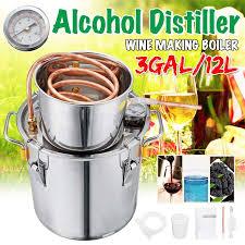 Efficient <b>3GAL</b> / <b>12L Home</b> DIY <b>Brew</b> Distiller Moonshine <b>Alcohol</b> ...