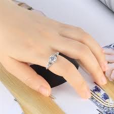 <b>New Fashion Exquisite Women's</b> Silver Diamond Band Engagement ...