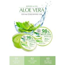 3w Clinic Aloe Vera Soothing Gel 98% and <b>Snail Mucus</b> Soothing ...