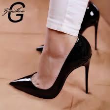 <b>GENSHUO</b> Women <b>High Heels White</b> Pumps <b>Stiletto Heels</b> 10 12cm ...
