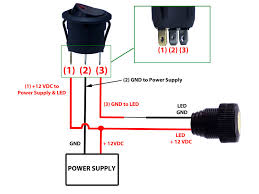 12v switch wiring diagram 12v image wiring diagram round rocker switch 12v led prewired in blue red green