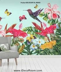 <b>Nordic Tropical Plant</b> Leaf Flamingo Sofa wallpaper wall murals ...