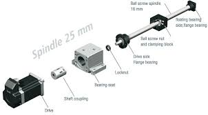 <b>25mm</b> Dia 10mm Pitch <b>Ball screw</b> by ISEL | Motion Control Products