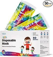WeCare Disposable Face Masks For Kids, 50 Tie Dye ... - Amazon.com