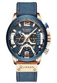 Buy <b>CURREN</b> Analogue <b>Men's</b> Watch (Blue Dial) at Amazon.in