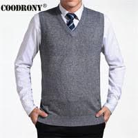 COODRONY 2020 <b>New</b> Arrival Solid Color Sweater Vest <b>Men</b>...