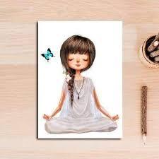 <b>Lovely Yoga Girl</b> Wall Art Canvas | Zen Wall Art | Art, Wall art prints ...