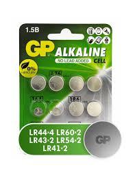 Набор <b>элементов питания GP</b> LR44, LR41, LR621, LR43, LR54 ...