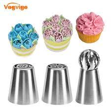 VOGVIGO Cream Mouth Russian Ball <b>Nozzles Cake</b> Decorating ...