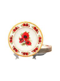 "<b>Набор суповых тарелок</b> ""Маки"" Elan Gallery 2606238 купить ..."