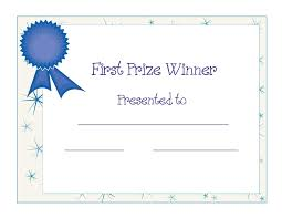printable award certificate template printable first printable award certificate template printable first prize winner certificate award ppt