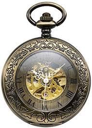 Treeweto <b>Automatic Mechanical</b> Pocket Watch Half Hunter Case ...
