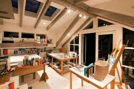 view in gallery artist office