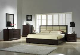 l captivating design of modern dark brown lacquer master bedroom furniture with ivory leather upholstered headboard and black shade table lamp on bedside bedroomcaptivating brown leather office chair home design