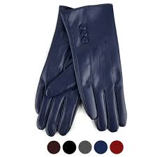 <b>Women's PU Leather Winter</b> Touch Screen Gloves - LWG36