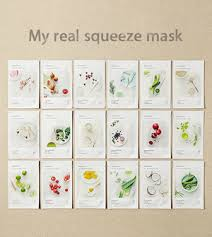 <b>Innisfree My Real</b> Squeeze Masks| PinkyParadise