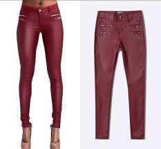 2019 <b>Urumbassa</b> 2018 Spring Slim Fit PU Leather Pants Chic ...