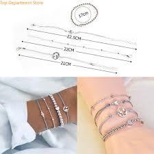 <b>4Pcs</b> Fashion Charm Women <b>Map Heart</b> Rope Beads Chain ...