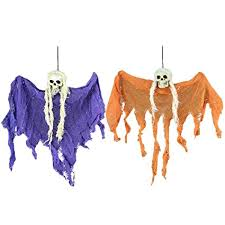 <b>2Pcs Halloween</b> Hanging Skeletons Fabric <b>Party</b> Favors Wall ...