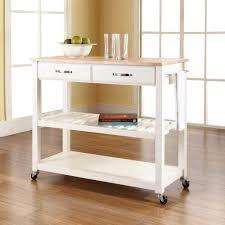 kitchen cart larger wood top