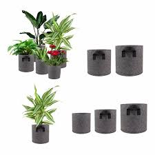 <b>5</b> Size Gray Felt Pots Garden Plant Grow <b>Bag</b> Pouch Root Container ...