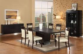modern wood dining room sets: dining room sets contemporary dark brown carpet on white tile floor white leather dining chair unique black table legs white rectangle acrylic tables