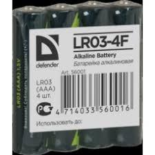 <b>Батарейка Defender</b> LR03-4F <b>AAA</b> Alkaline