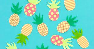 Washi Tape Pineapples - Omiyage Blogs
