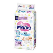 <b>Merries Подгузники для</b> детей с малым весом, <b>nb до</b> 3 кг xs 38 шт ...