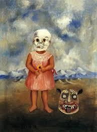 <b>Girl</b> with <b>Death</b> Mask, 1938 - by Frida Kahlo