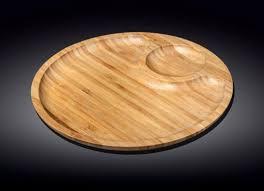 <b>Сервировочное блюдо</b> 35,5 см <b>Wilmax</b> бамбуковое круглое 2-х ...