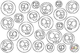 Small Picture Skulls Pop Art coloring page Free Printable Coloring Pages