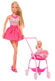 ROZETKA | <b>Кукла Штеффи в розовом</b> и коляска с малышом, Steffi ...