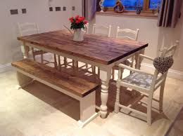 Shabby Chic Dining Room Table Shabby Chic Rustic Oak And Painted Ft X Ft Dining Table Rustic