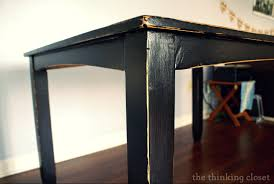 furniture black distressed black distressed table makeover the thinking closet