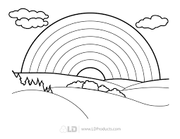 Small Picture Rainbow Coloring Pages Rainbow Coloring Pages For Kids 217 Free