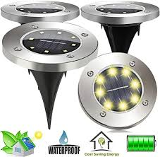 IP67 Waterproof <b>Solar</b> Path Lights <b>8 LED Solar</b> Ground Lights <b>Solar</b> ...