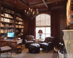 i love the way this office is decorate it beautiful wood panel and the lime beautiful home office den