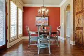 Orange Dining Room Chairs Contemporary Orange Dining Room Wall Color Scheme With Unique